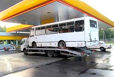 Эвакуация автобуса в Курской