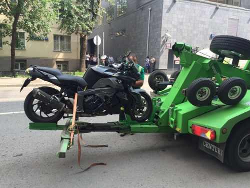 эвакуация мотоцикла в Курской