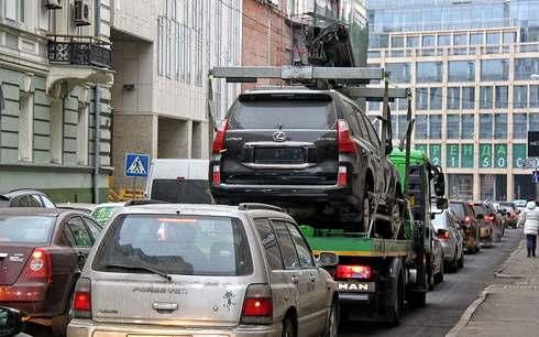 эвакуация нового авто в Курской